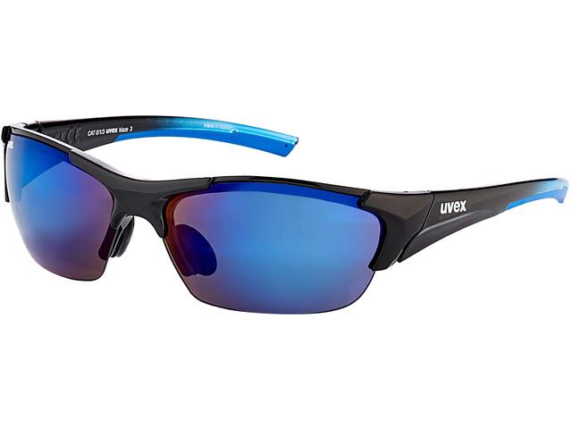 UVEX Blaze III Occhiali, nero/blu